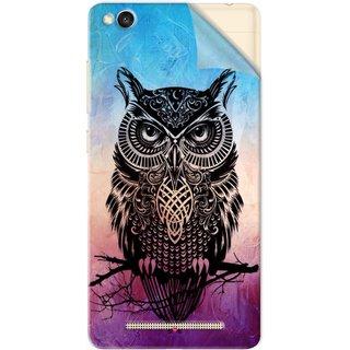 Snooky Printed warrior owl Pvc Vinyl Mobile Skin Sticker For Xiaomi Redmi 3S