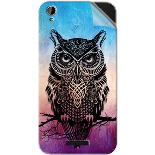 Snooky Printed warrior owl Pvc Vinyl Mobile Skin Sticker For Lava X1 Mini