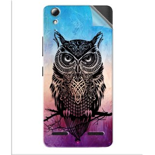 Snooky Printed warrior owl Pvc Vinyl Mobile Skin Sticker For Lenovo A6010