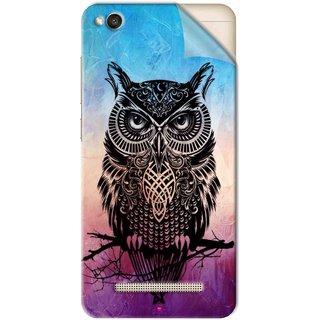 Snooky Printed warrior owl Pvc Vinyl Mobile Skin Sticker For Xiaomi Redmi 4A