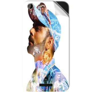 Snooky Printed virat kohli Pvc Vinyl Mobile Skin Sticker For Lava X1 Mini