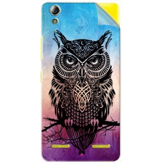 Snooky Printed warrior owl Pvc Vinyl Mobile Skin Sticker For Lenovo A6000 Plus