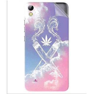 Snooky Printed weed for girls Pvc Vinyl Mobile Skin Sticker For Tecno i3 pro