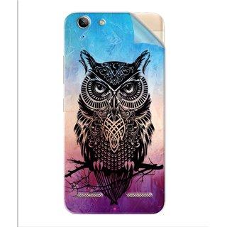 Snooky Printed warrior owl Pvc Vinyl Mobile Skin Sticker For Lenovo Vibe K5 Plus
