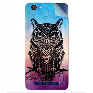 Snooky Printed warrior owl Pvc Vinyl Mobile Skin Sticker For LYF Flame 1