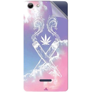 Snooky Printed weed for girls Pvc Vinyl Mobile Skin Sticker For Micromax Canvas Selfie 3 Q348