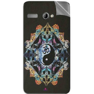 Snooky Printed Om Lord religious Pvc Vinyl Mobile Skin Sticker For Intex Aqua 3G Pro