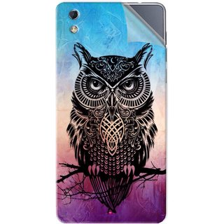 Snooky Printed warrior owl Pvc Vinyl Mobile Skin Sticker For LYF water 1