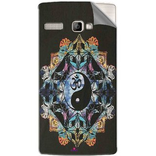 Snooky Printed Om Lord religious Pvc Vinyl Mobile Skin Sticker For Intex Aqua 3G Strong
