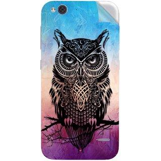 Snooky Printed warrior owl Pvc Vinyl Mobile Skin Sticker For LYF Water 2