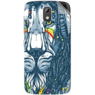 Snooky Printed Rasta Lion Pvc Vinyl Mobile Skin Sticker For HTC Desire 526