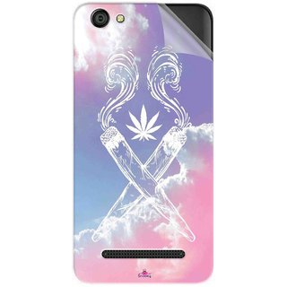 Snooky Printed weed for girls Pvc Vinyl Mobile Skin Sticker For LYF Wind 6