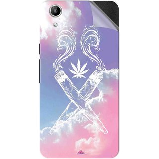 Snooky Printed weed for girls Pvc Vinyl Mobile Skin Sticker For Micromax Canvas Selfie Lens Q345