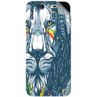Snooky Printed Rasta Lion Pvc Vinyl Mobile Skin Sticker For LYF Earth 2