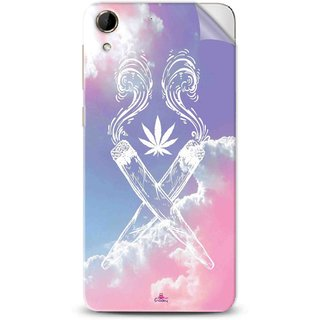 Snooky Printed weed for girls Pvc Vinyl Mobile Skin Sticker For Htc Desire 728
