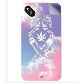 Snooky Printed weed for girls Pvc Vinyl Mobile Skin Sticker For Micromax Bolt D303