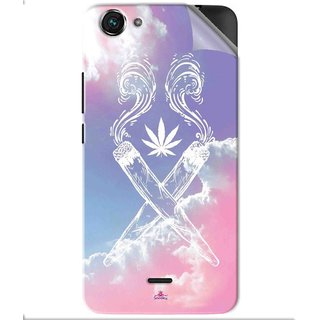 Snooky Printed weed for girls Pvc Vinyl Mobile Skin Sticker For Micromax Bolt Q338