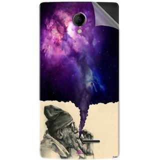 Snooky Printed old man smoking weed Pvc Vinyl Mobile Skin Sticker For Intex Aqua Wing