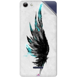 Snooky Printed wing tattoo Pvc Vinyl Mobile Skin Sticker For Micromax Canvas Selfie 3 Q348
