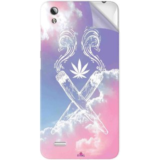 Snooky Printed weed for girls Pvc Vinyl Mobile Skin Sticker For Vivo Y17