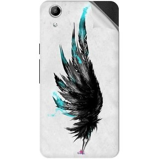 Snooky Printed wing tattoo Pvc Vinyl Mobile Skin Sticker For Micromax Canvas Selfie Lens Q345