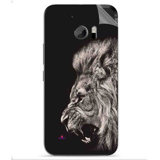 Snooky Printed Roaring lion Pvc Vinyl Mobile Skin Sticker For HTC One M10