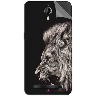 Snooky Printed Roaring lion Pvc Vinyl Mobile Skin Sticker For Panasonic P77