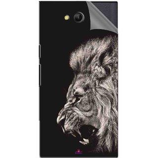 Snooky Printed Roaring lion Pvc Vinyl Mobile Skin Sticker For LYF Wind 4