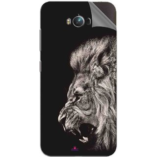 Snooky Printed Roaring lion Pvc Vinyl Mobile Skin Sticker For Asus Zenfone Max