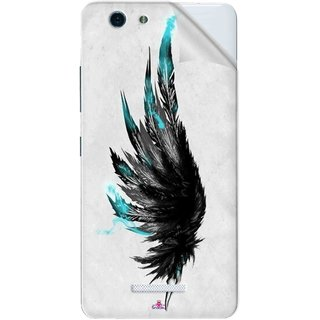 Snooky Printed wing tattoo Pvc Vinyl Mobile Skin Sticker For Gionee S Plus
