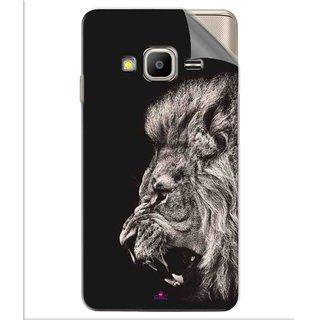 Snooky Printed Roaring lion Pvc Vinyl Mobile Skin Sticker For Samsung Z2