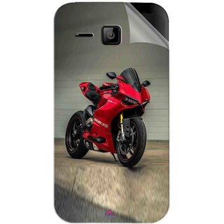 Snooky Printed panigale 1199 Motor cycle bike Pvc Vinyl Mobile Skin Sticker For Micromax Bolt S301