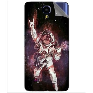 Snooky Printed Rock Astronaut Pvc Vinyl Mobile Skin Sticker For Infinix Note 4