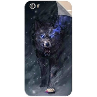 Snooky Printed Wolf Spirit Animal Pvc Vinyl Mobile Skin Sticker For Intex Aqua Turbo 4G