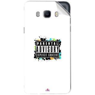 Snooky Printed Parental Advisory Pvc Vinyl Mobile Skin Sticker For Samsung Galaxy On8