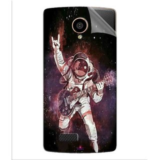 Snooky Printed Rock Astronaut Pvc Vinyl Mobile Skin Sticker For LYF Flame 7