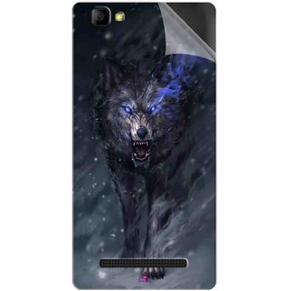 Snooky Printed Wolf Spirit Animal Pvc Vinyl Mobile Skin Sticker For LYF Wind 7