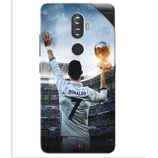 Snooky Printed Ronaldo Pvc Vinyl Mobile Skin Sticker For Lenovo K8 Plus