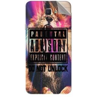 Snooky Printed Parental advisory explicit content do not unlock Pvc Vinyl Mobile Skin Sticker For Samsung Galaxy J7 Prime