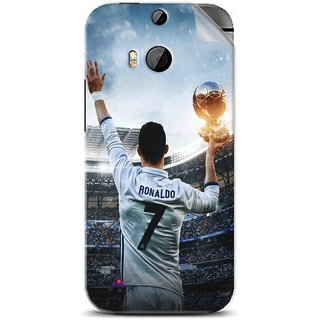Snooky Printed Ronaldo Pvc Vinyl Mobile Skin Sticker For Htc One M8