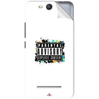 Snooky Printed Parental Advisory Pvc Vinyl Mobile Skin Sticker For Micromax Bolt Q392