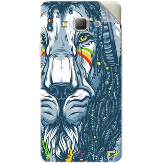 Snooky Printed Rasta Lion Pvc Vinyl Mobile Skin Sticker For Samsung Galaxy A7