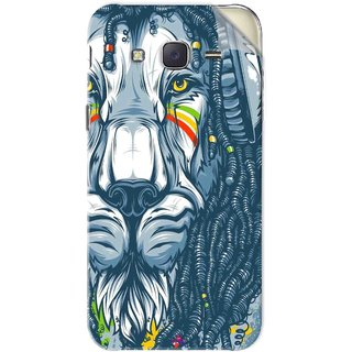 Snooky Printed Rasta Lion Pvc Vinyl Mobile Skin Sticker For Samsung Galaxy J5