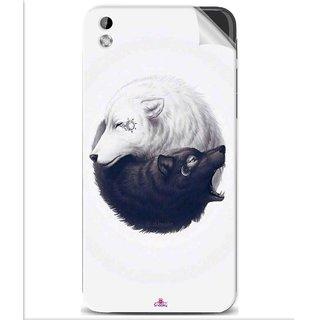 Snooky Printed Yin Yang White Pvc Vinyl Mobile Skin Sticker For Htc Desire 816