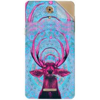 Snooky Printed acid deer Pvc Vinyl Mobile Skin Sticker For Coolpad Mega 2.5D