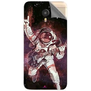 Snooky Printed Rock Astronaut Pvc Vinyl Mobile Skin Sticker For Micromax YU Yunicorn