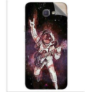 Snooky Printed Rock Astronaut Pvc Vinyl Mobile Skin Sticker For Samsung Galaxy J5 Prime