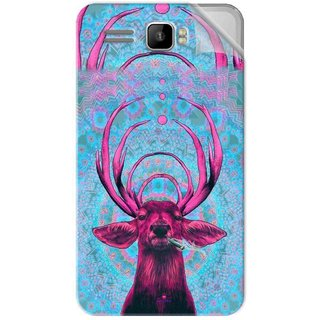 Snooky Printed acid deer Pvc Vinyl Mobile Skin Sticker For Intex Aqua R3 Plus