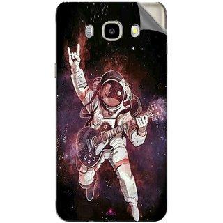 Snooky Printed Rock Astronaut Pvc Vinyl Mobile Skin Sticker For Samsung Galaxy J7 (2016)