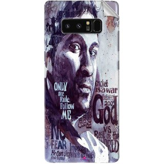 Snooky Printed sachin Tendulkar A tribute Pvc Vinyl Mobile Skin Sticker For Samsung Galaxy Note 8
